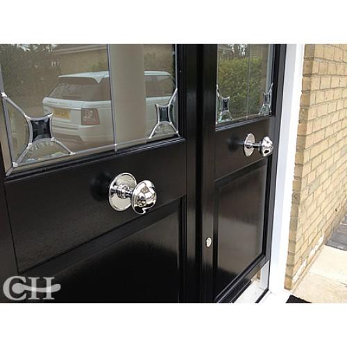 Croft 4175 Plain Centre Door Knobs In Nickel Chrome Brass