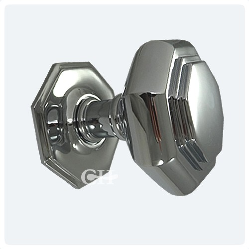 Croft 4185 Flat Octagonal Centre Door Knobs in Nickel or Chrome from ...