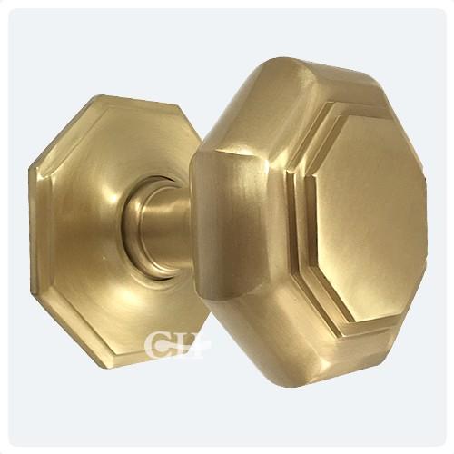 Croft 4185 Flat Octagonal Centre Door Knob Pull Handles in Brass or ...