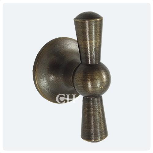 Distressed Antique Brass - Croft 5101 Crossed Cupboard Door Knobs In Brass Bronze Chrome Or
