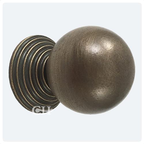 Distressed Oil Rubbed Bronze - Croft 5102 Reeded Cupboard Door Knobs In Brass Bronze Chrome Or