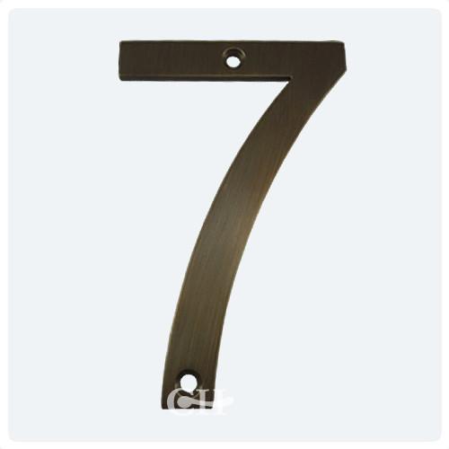 Antique Brass Screw Fix ... - Croft Door Numeral Or Door Number In Brass Nickel Chrome Or Bronze
