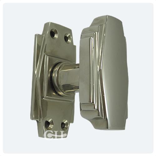 Croft 7005 Art Deco Door Knobs In Nickel Chrome Bronze Or