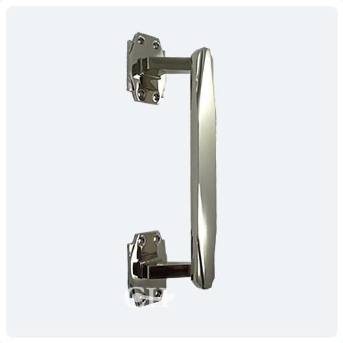 Croft 7009 Art Deco Door Pull Handle In Chrome Or Nickel