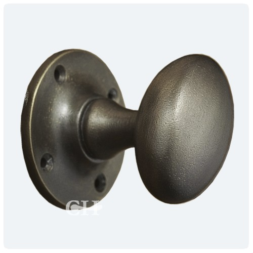 Distressed Antique Nickel; Polished Nickel - Croft 1754 Oval Mortice Door Knobs In Nickel Chrome Bronze Or Brass