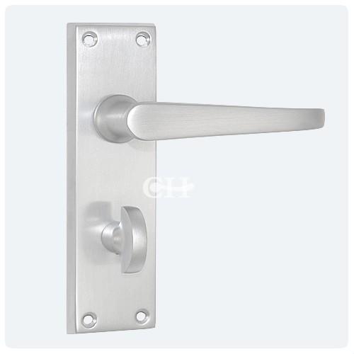 Victorian Door Lever Handle On Privacy Bathroom Plate In