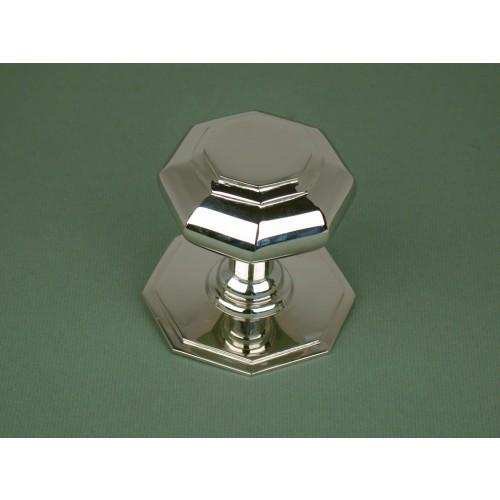 Octagonal Centre Door Knobs in Polished Nickel from Cheshire ...