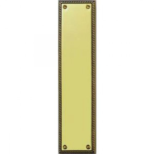 Georgian finger plates polished brass from cheshire for Door finger plates