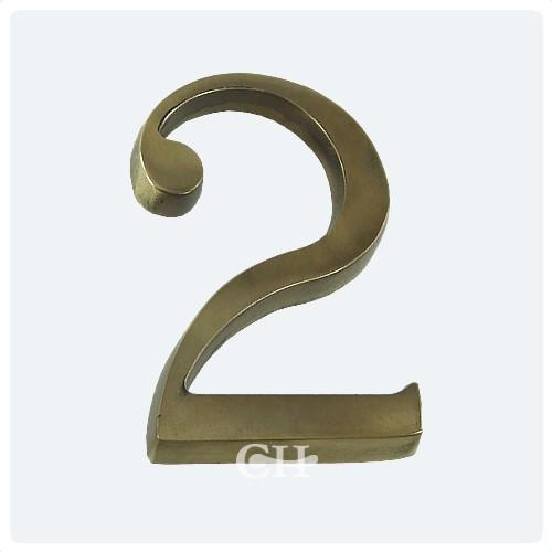 Antique Brass ... - Frank Allart 0093 Door Numerals Brass Bronze Chrome Or Nickel