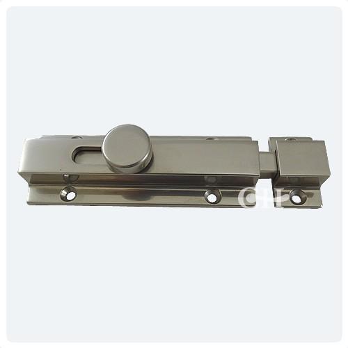 Antique Brass - British Handmade Knob Slide Door Bolts In Nickel Chrome Brass Or