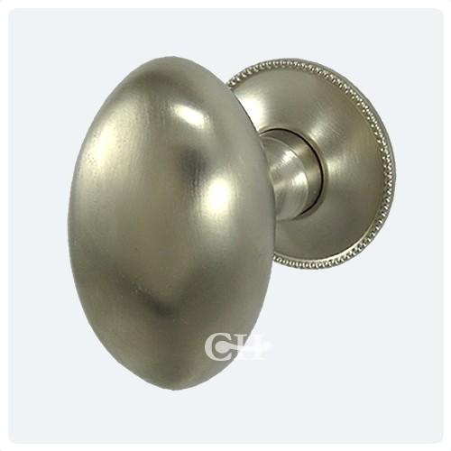 Gentil Satin Nickel Oval Door Knobs · Satin Nickel With Beaded Rose Satin Nickel  With Beaded Rose ...