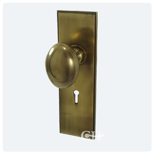 Frank Allart 7616 Oval Mortice Door Knobs On Art Deco Backplate in ...