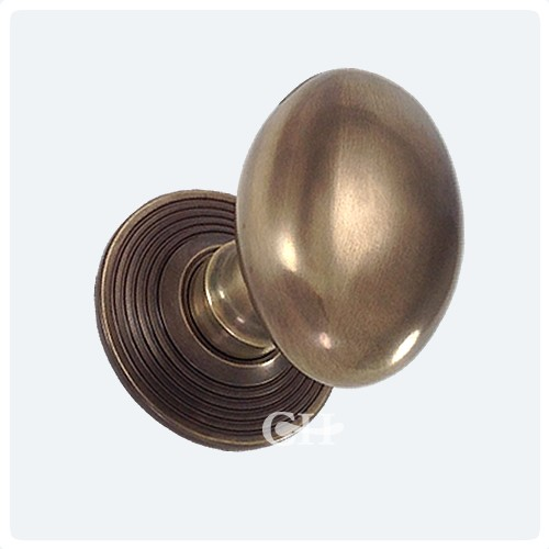 Delightful Frank Allart 7621 Oval Mortice Door Knobs In Nickel Chrome Brass