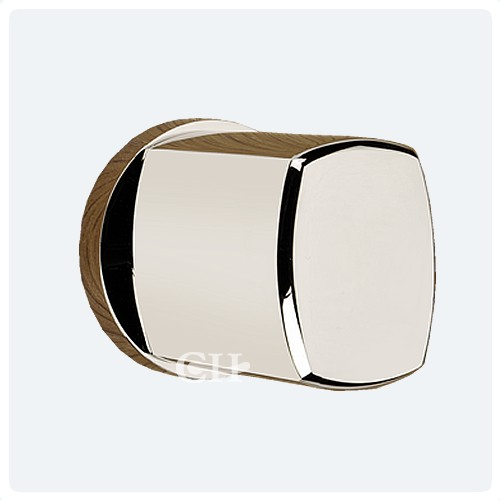 Frank Allart 7660 Modern Contemporary Mortice Door Knobs in Nickel