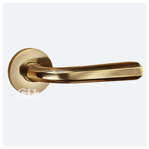 antique brass unlaquered lever handles on rose - Frank Allart 7778 Designer Lever Handles On Rose In Nickel Chrome