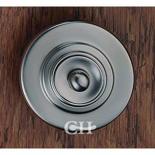 Frank allart 7854 raised door bell push in nickel chrome for Door bell push