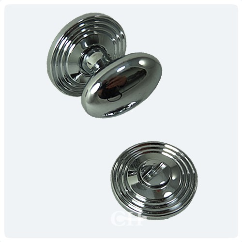 British Handmade Reeded Turn And Release In Nickel Chrome