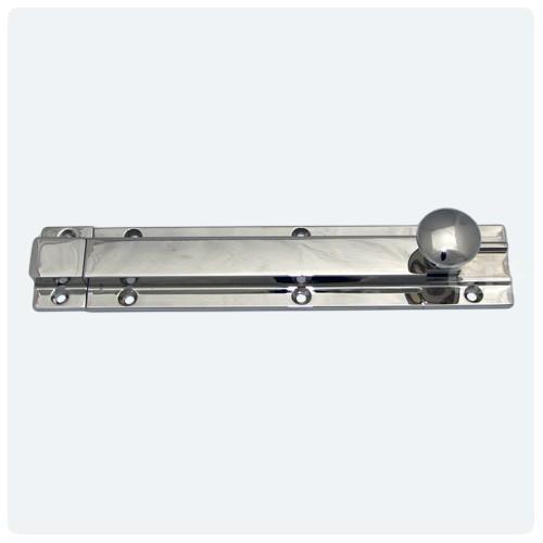 Polished Nickel with Staple  sc 1 st  Cheshire Hardware & British Handmade Heavy Door Bolts in Nickel Chrome Brass or Bronze ...