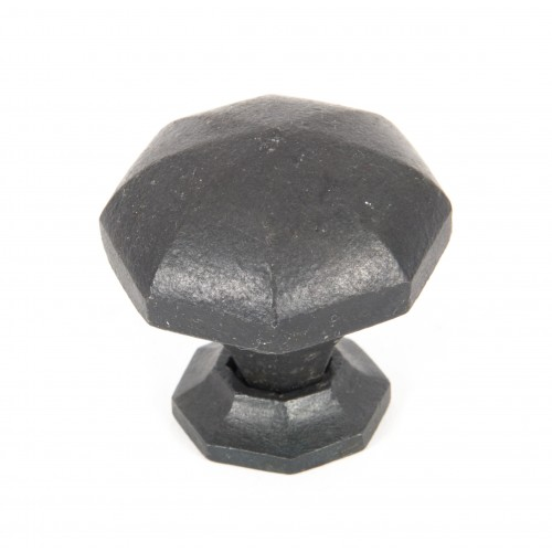 Beeswax Octagonal Cabinet Knobs Small: From The Anvil Octagonal Iron Cupboard Knobs In Beeswax Black