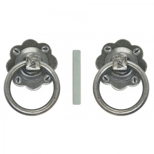 Charmant Ring Handle Door Knobs In Pewter