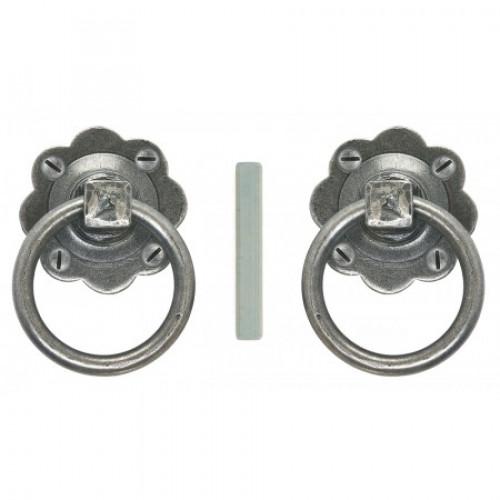 Superbe Ring Handle Door Knobs In Pewter