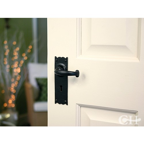 From The Anvil 73106 Cottage Lever Handles On Keyhole Lock
