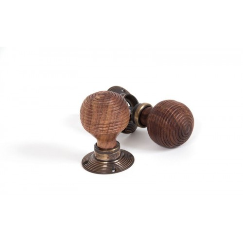 Anvil 83574 Ebony Antique Brass Beehive Door Knobs: From The Anvil 83573 Rosewood Reeded Beehive Door Knobs