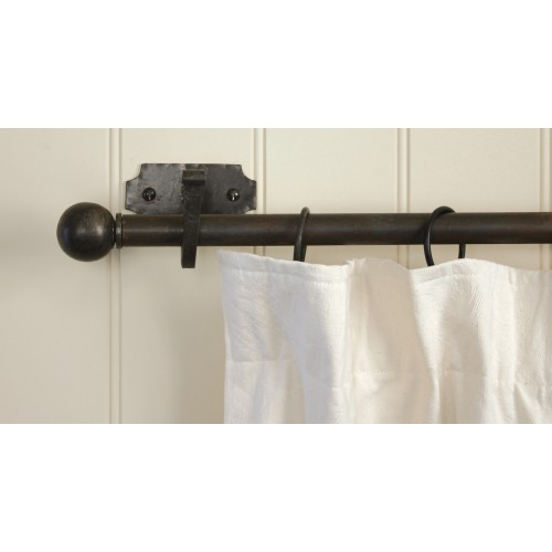 Curtains Ideas black curtain finials : From The Anvil 83612 Beeswax Black Finials for Curtain Poles from ...