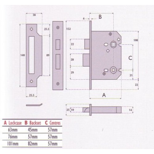 Standard Toilet Dimensions Imperial : Guardian Locks Imperial Locks G8020 G8021 UK Bathroom Locks In Brass ...