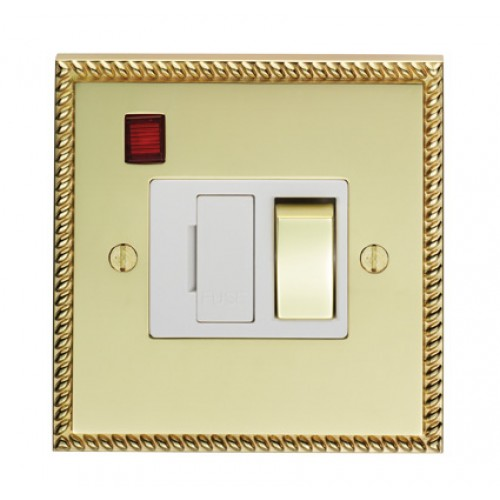 switched polished brass 13a sockets