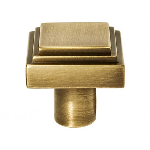 Henry Blake Art Deco Square Stepped Cupboard knobs in Brass Bronze ...
