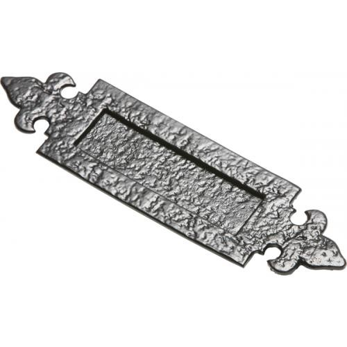 Kirkpatrick 1073 Fleur De Lys Letterplates In Black Argent