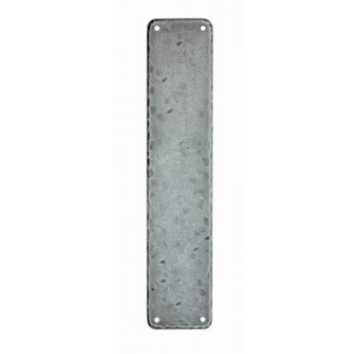 Small Pewter Door Kick Plate: Ludlow Foundries PE55101 Pewter Push Plates Or Finger