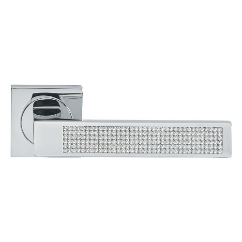 Manital LX5 Lux Square Lever Handles with Swarovski Crystals in ...