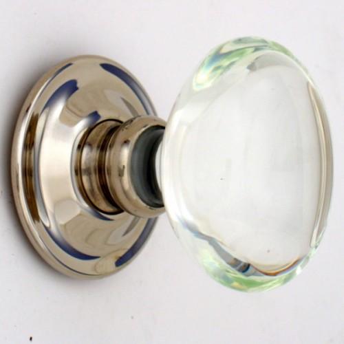 Clear Oval Glass Door Knobs Mortice Or Rim Door Handles