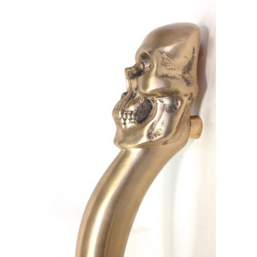 Philip Watts Skull Long Entrance Door Pull Handles Aluminium Brass ...