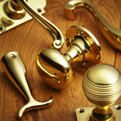 Croft 4175m Large Mortice Door Knobs In Brass Bronze