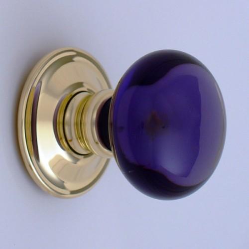 Amethyst Purple Glass Door Knobs Mortice Or Rim | Door handles ...