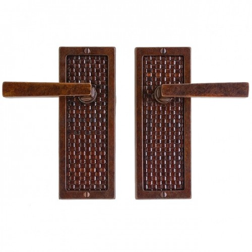 Rocky Mountain Designer Leather Door Handles in Bronze. Various ...