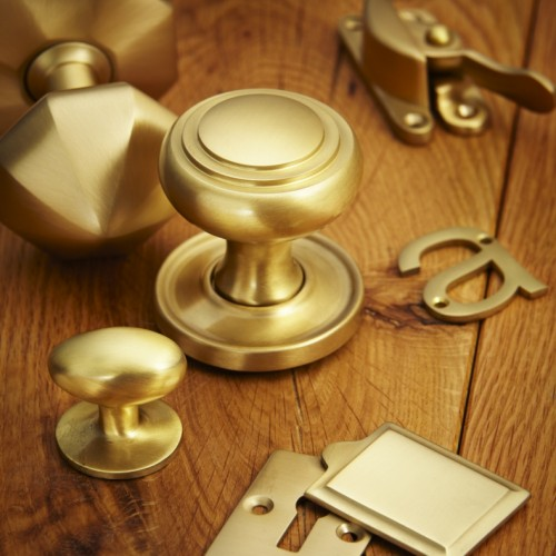 Croft 1754COV Oval Door Knobs On Concealed Rose Brass or Bronze