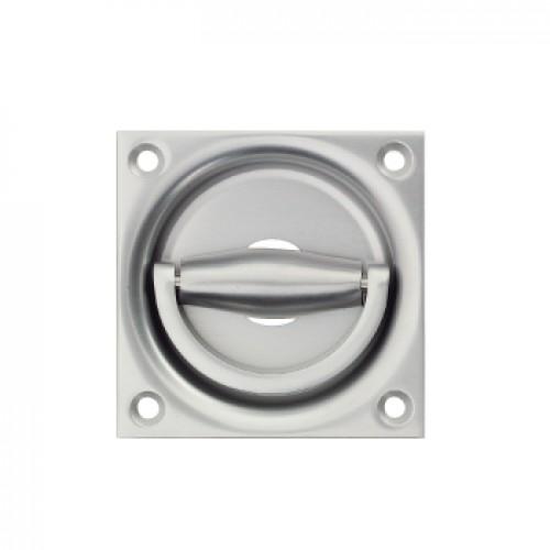Silver Flush Ring Door Handles