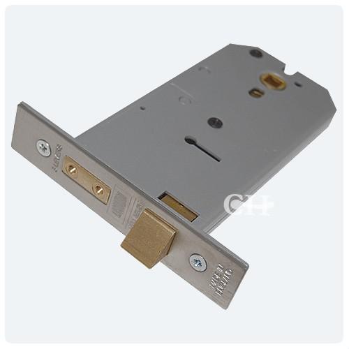 Union 2077 3 Lever Horizontal Mortice Lock in Satin Chrome | Door