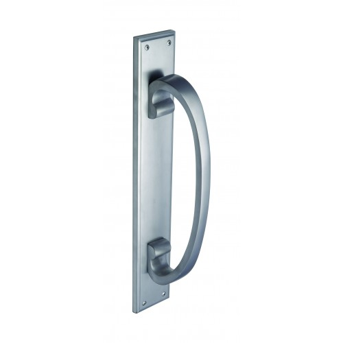 Warrington Satin Chrome Pull Handle On Backplate From