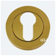 euro escutcheon polished brass