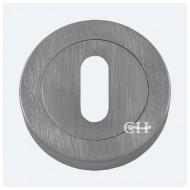 keyhole lock escutcheon satin chrome