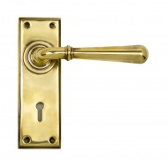 Anvil Newbury Lever Handles On Keyhole Backplate