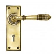 Anvil Regency Reeded Lever Handles On Keyhole Backplate