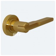 art deco lever handle brass