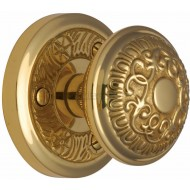 Aydon Decorative Door Knobs in Polished Brass
