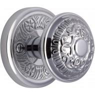 Aydon Decorative Door Knobs in Polished Chrome